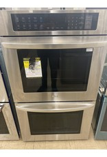 LG Electronics 30 in. Double Electric Wall Oven Self-Cleaning with Convection and EasyClean in Stainless Steel
