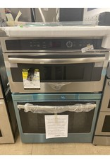 GE PROFILE JT3800SHSS 30 in. Double Electric Wall Oven with Built-In Microwave in Stainless Steel