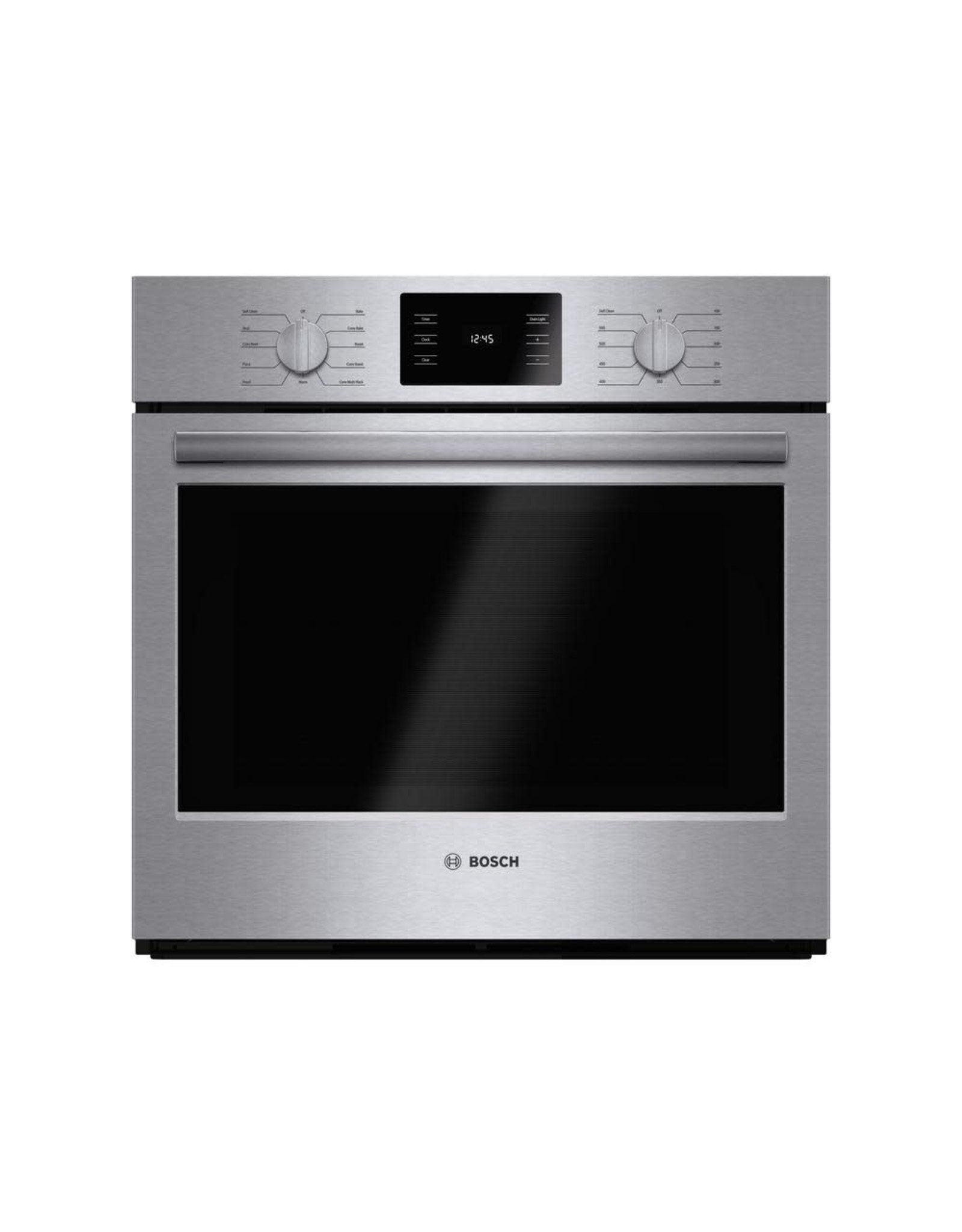 BOSCH HBL5451UC 500 Series 30 in. Single Electric Wall Oven with European Convection and Self Cleaning in Stainless Steel