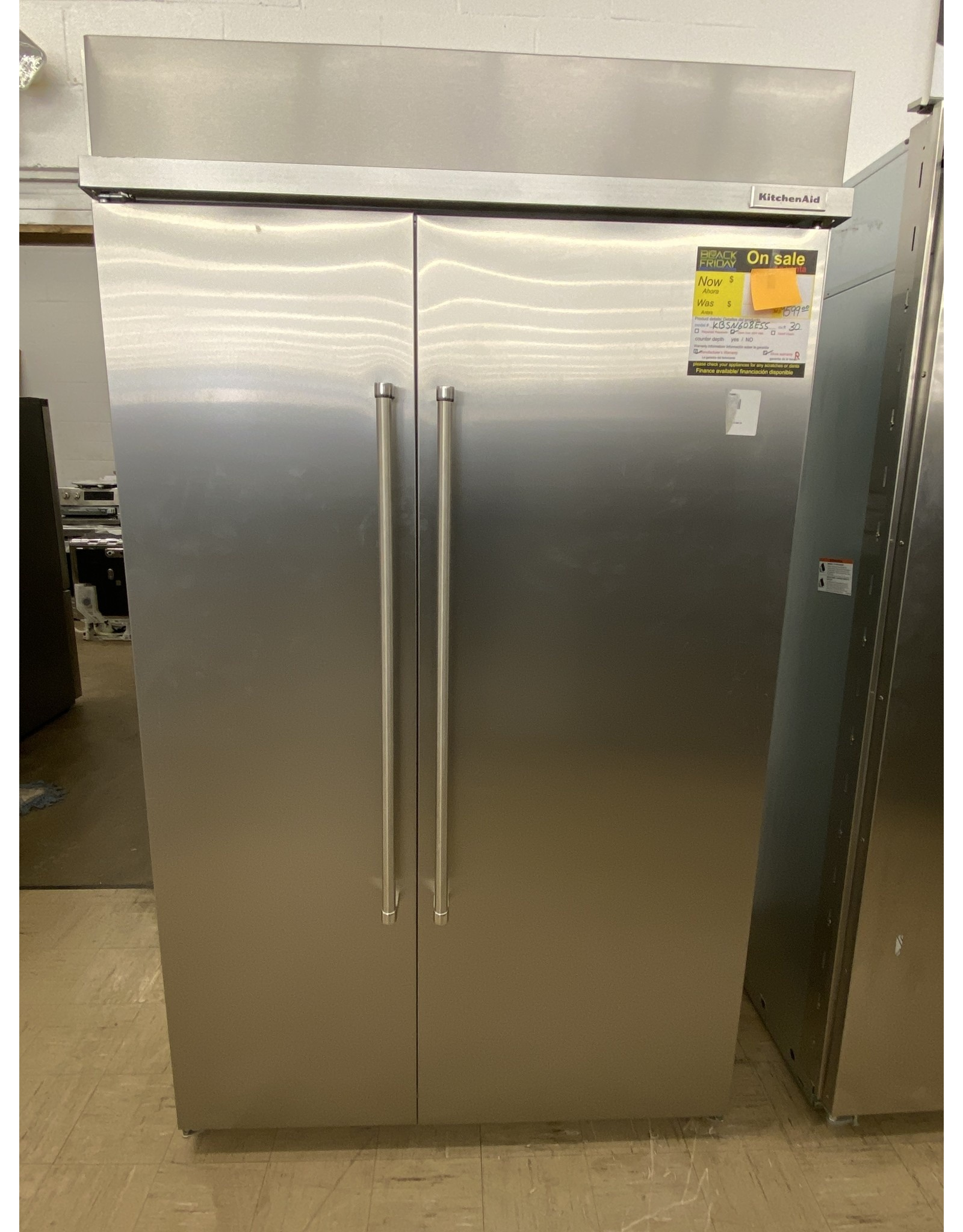 """KBSN608ESS KAD No Frost Side - Built-in Refr Frez - 48"""" SXS, STAINLESS STEEL, NON DISPENSE"""