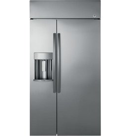 GE PROFILE PSB48YSKSS Profile 28.7 cu. ft. Built-In Side by Side Refrigerator in Stainless Steel