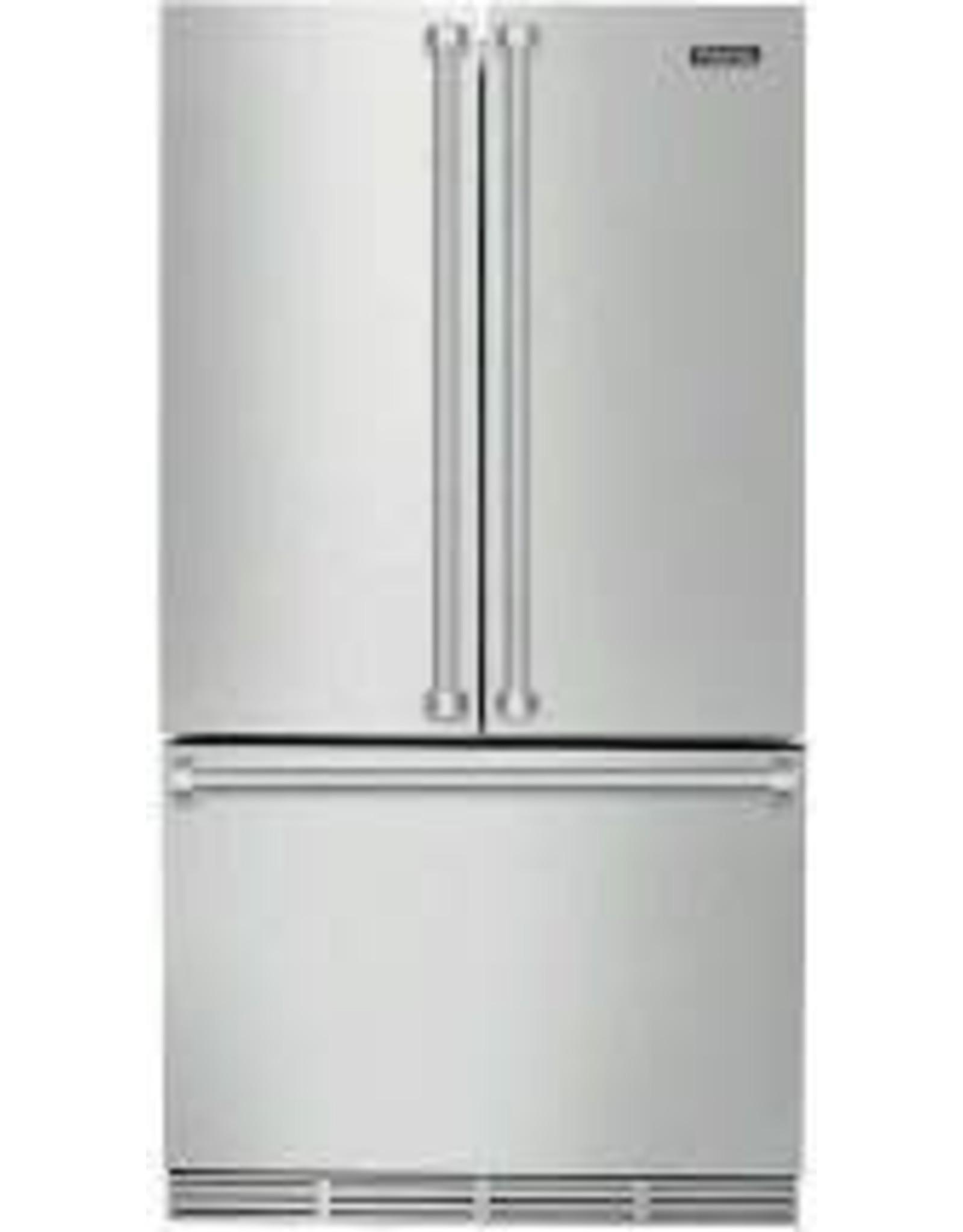 viking RVRF3361SS Viking - 3 Series 22.1 Cu. Ft. French Door Counter-Depth Refrigerator - Stainless steel