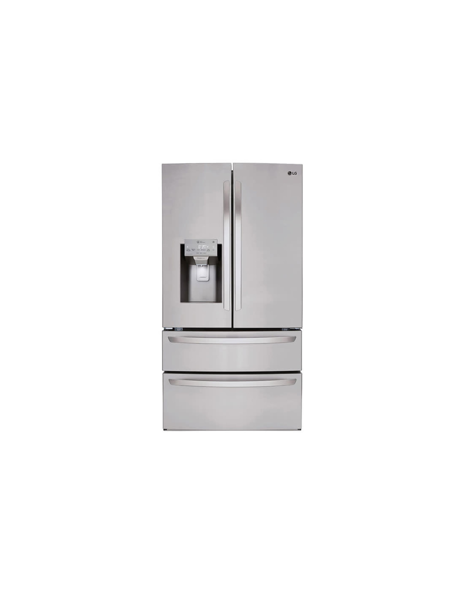 lg LMX528626S 27.8 cu. ft. 4 Door French Door Smart Refrigerator with 2 Freezer Drawers and Wi-Fi Enabled in Stainless Steel