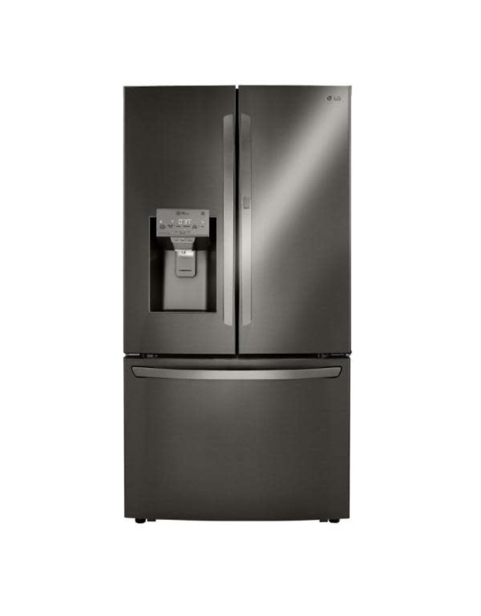 LG Electronics 29.7 cu. ft. Smart French Door Refrigerator, Door-In-Door, Dual Ice with Craft Ice in PrintProof Black Stainless Steel