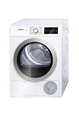 BOSCH Bosch 500 Series 24 in. 4 cu. ft. 240-Volt White with Silver Accents Electric Ventless Compact Dryer, ENERGY STAR