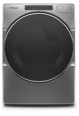 WHIRLPOOL Whirlpool 7.4 cu. ft. 240-Volt Chrome Shadow Stackable Electric Dryer with Steam and Wrinkle Shield Plus Option, ENERGY STAR