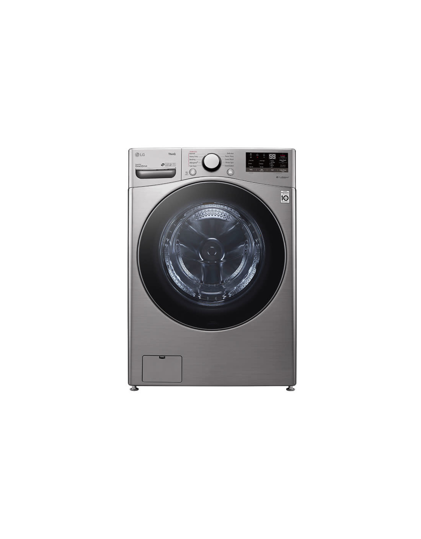 LG Electronics WM3600HVA 27 in. 4.5 cu. ft. Ultra Large Capacity Graphite Steel Front Load Washer with Steam and Wi-Fi Connectivity