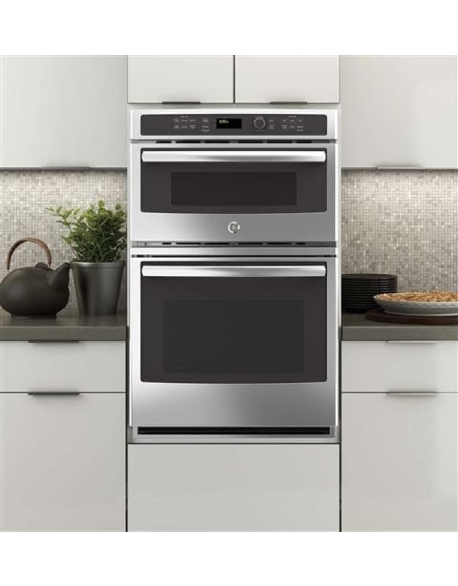 GE PROFILE JK3800SHSS 27 in. Double Electric Wall Oven with Built-In Microwave in Stainless Steel