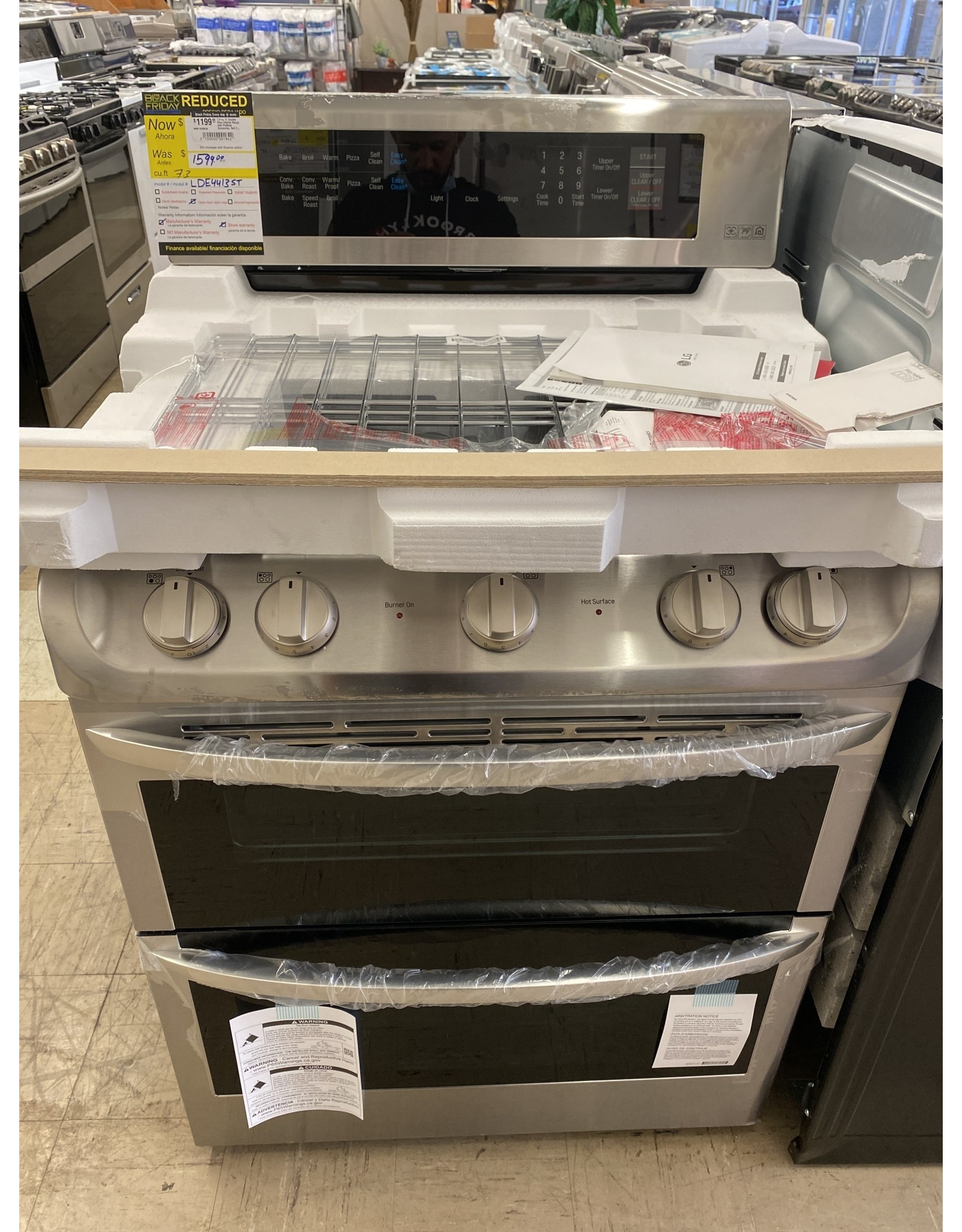 LG Electronics 7.3 cu. ft. Double Oven Electric Range with ProBake Convection, Self Clean and EasyClean in Stainless Steel
