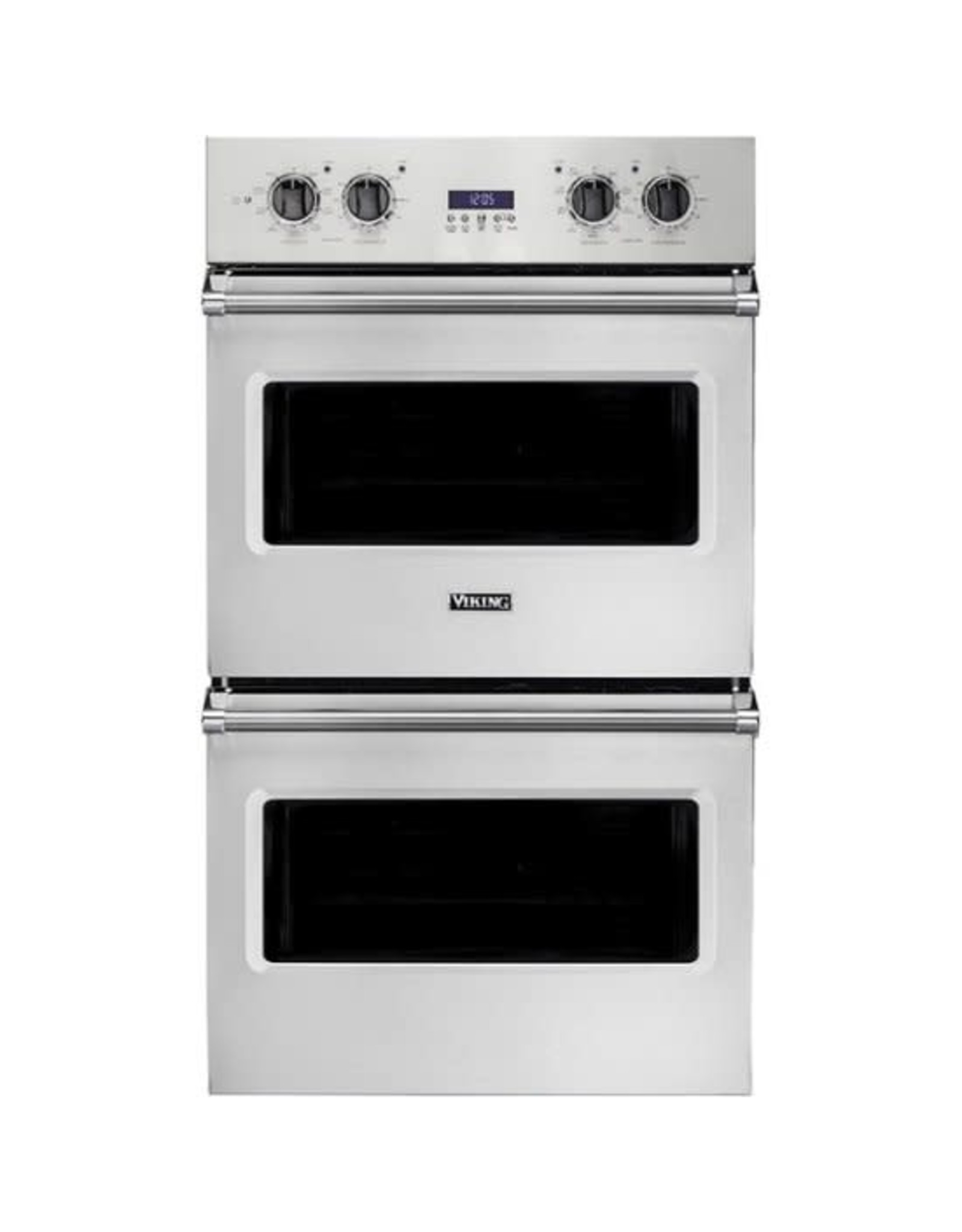 viking VDOE130SS 5 Series 30 Inch 9.4 cu. ft. Total Capacity Electric Double Wall Oven with Convection, Delay Bake, Self-Cleaning, Vari-Speed Dual Flow Convection, BlackChrome Knobs, TruGlide Oven Racks, Rapid Ready Preheat System in Stainless Steel