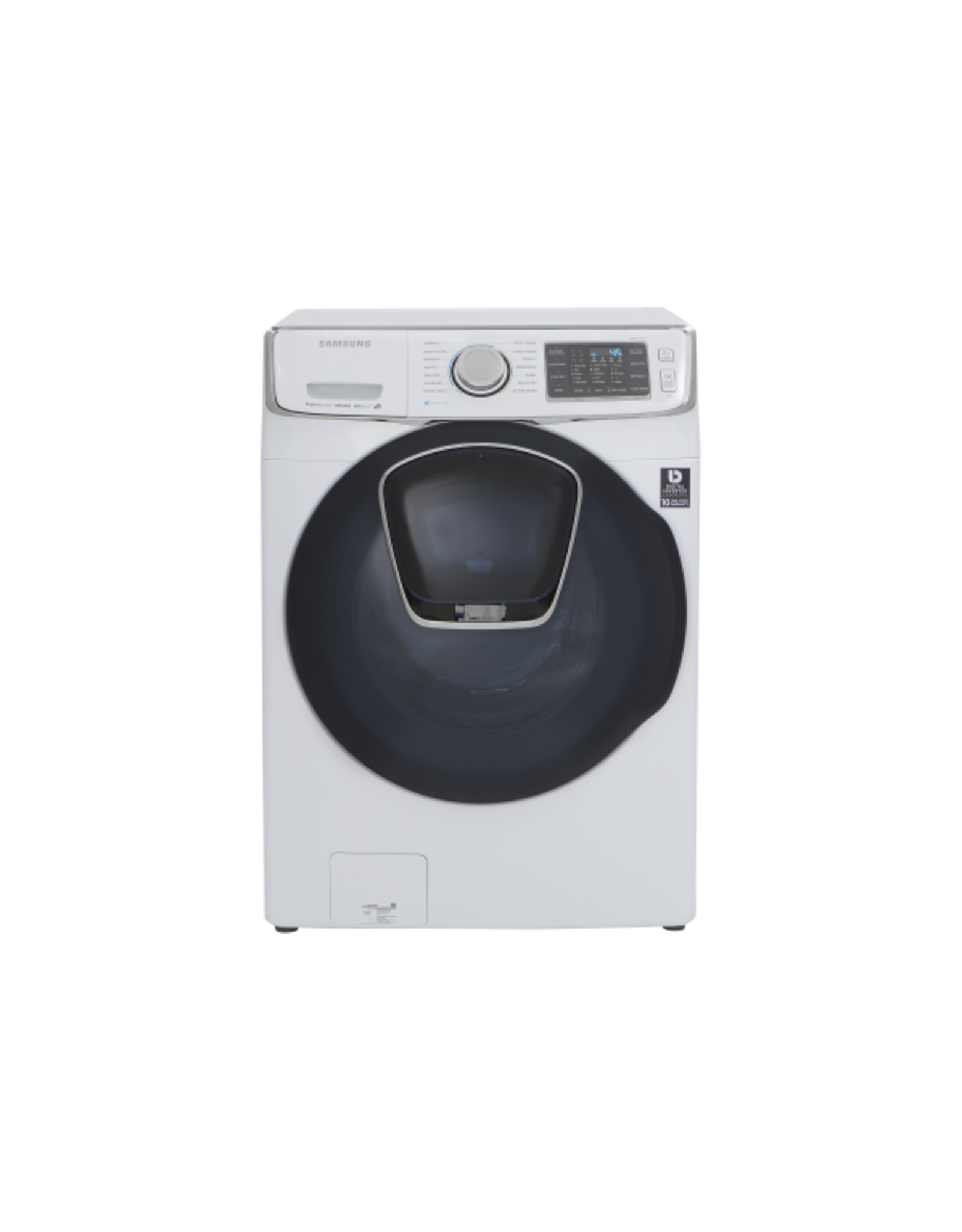 SAMSUNG WF45K6500AW 4.5 cu. ft. High-Efficiency Front Load Washer with Steam and AddWash Door in White, ENERGY STAR