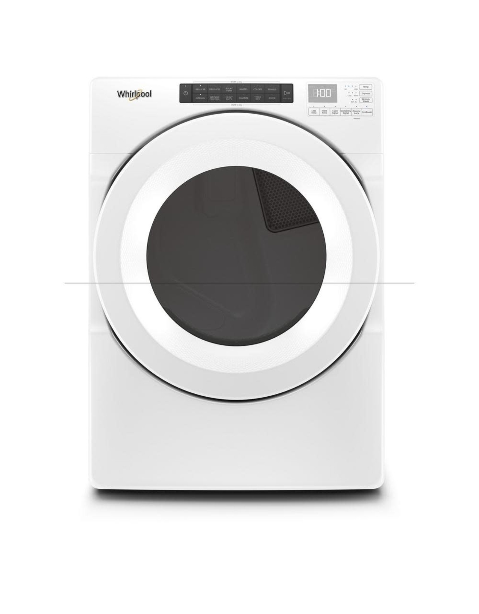 WHIRLPOOL WED5620HW 240-Volt White Electric Dryer with Intuitive Touch Controls and Advanced Moisture Sensing, ENERGY STAR