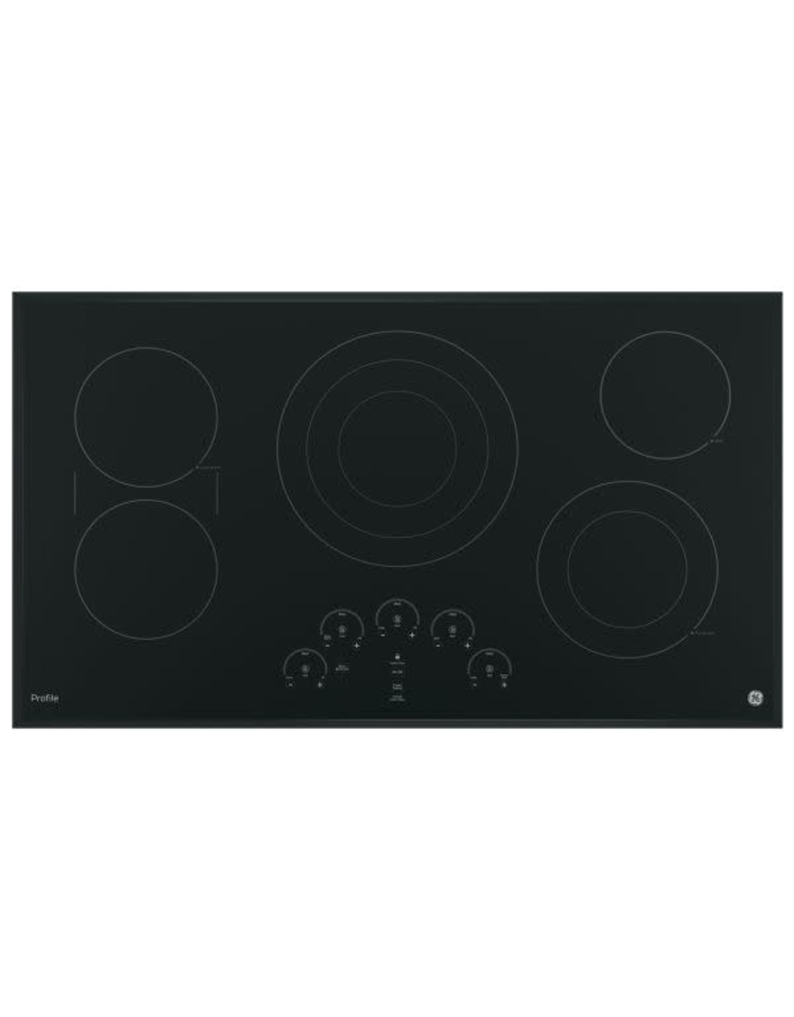 GE PROFILE PP9036DJBB  Profile 36 in. Radiant Electric Cooktop in Black with 5 Elements with Tri-Ring Element