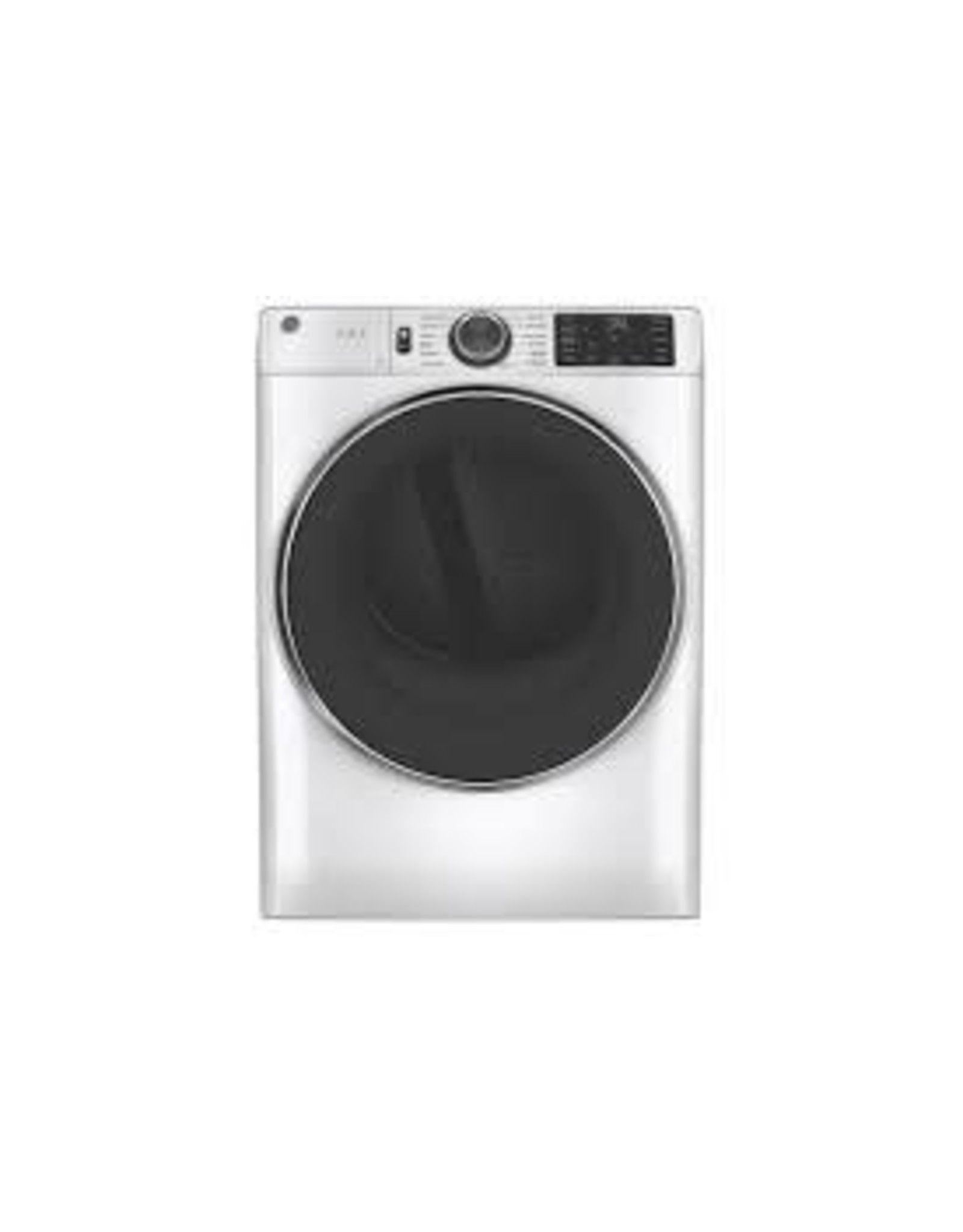 GE GFD65ESSNWW 7.8 cu. ft. Smart 240-Volt White Stackable Electric Vented Dryer with Steam and Sanitize Cycle, ENERGY STAR