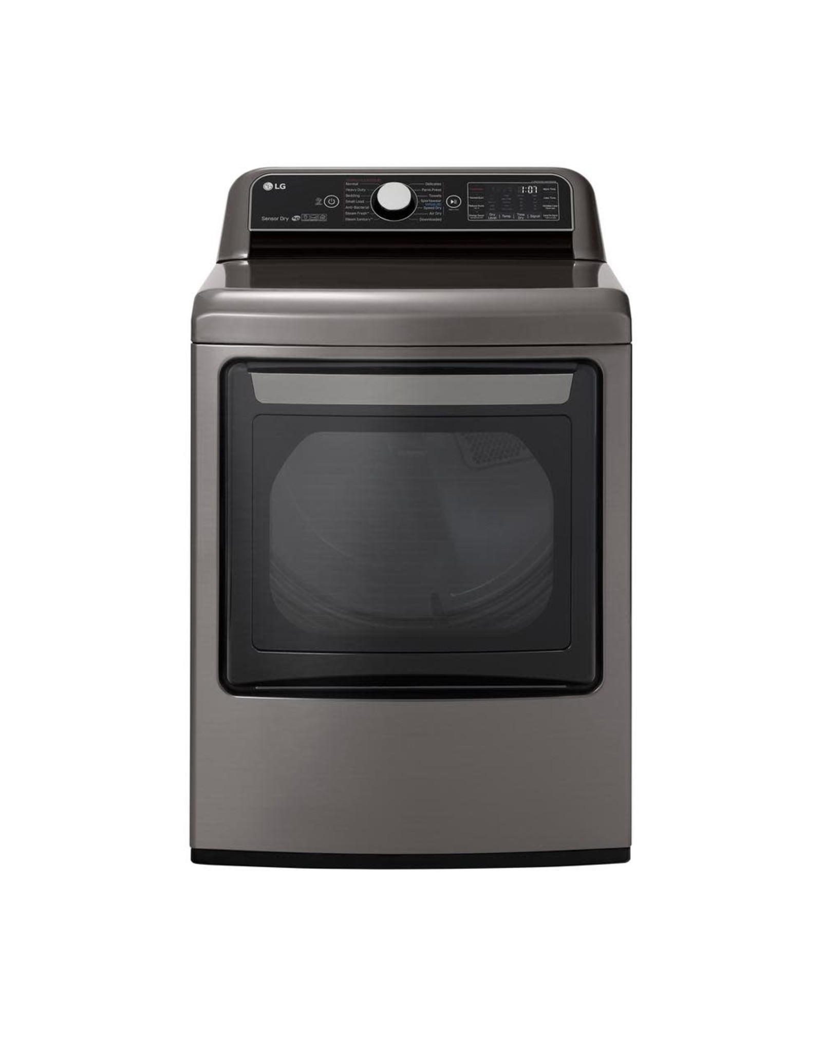 LG Electronics DLEX7800VE 7.3 cu. ft. Ultra Large Smart Front Load Electric Dryer w/ EasyLoad Door, TurboSteam & Wi-Fi Enabled in Graphite Steel