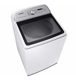 SAMSUNG WA54R7600AW Samsung 5.4 cu. ft. High-Efficiency White Top Load Washing Machine with Super Speed and Steam, ENERGY STAR