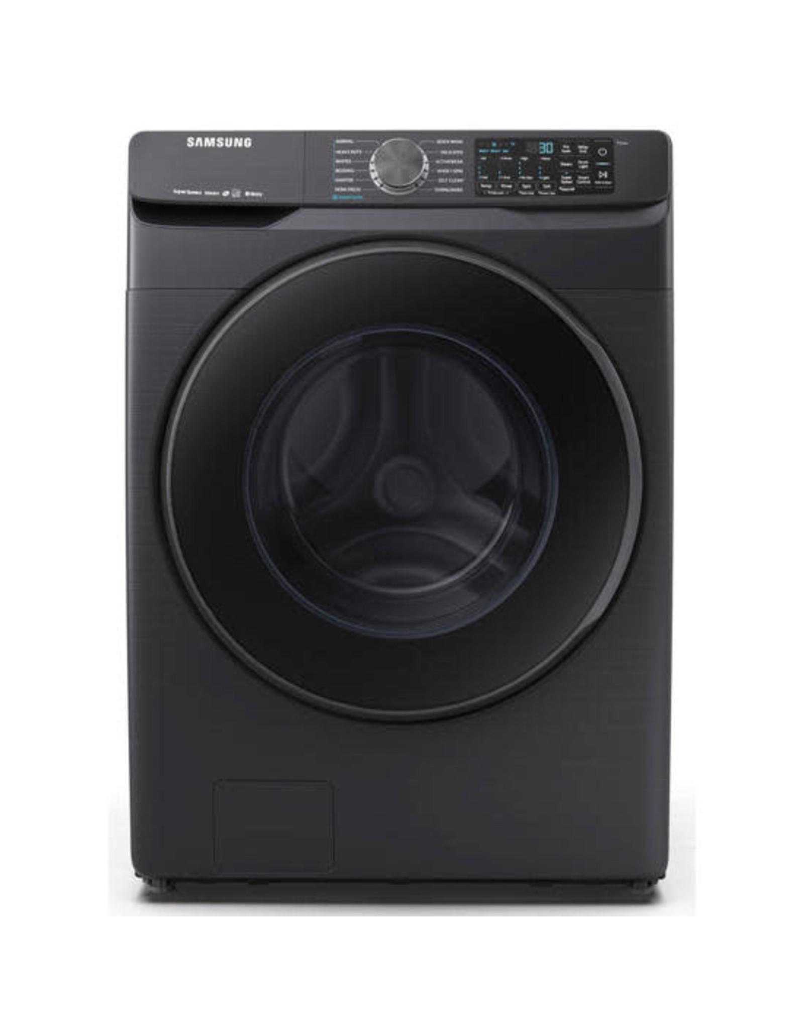 SAMSUNG Samsung 5.0 cu. ft. High-Efficiency Black Stainless Steel Front Load Washing Machine with Super Speed and Steam, ENERGY STAR