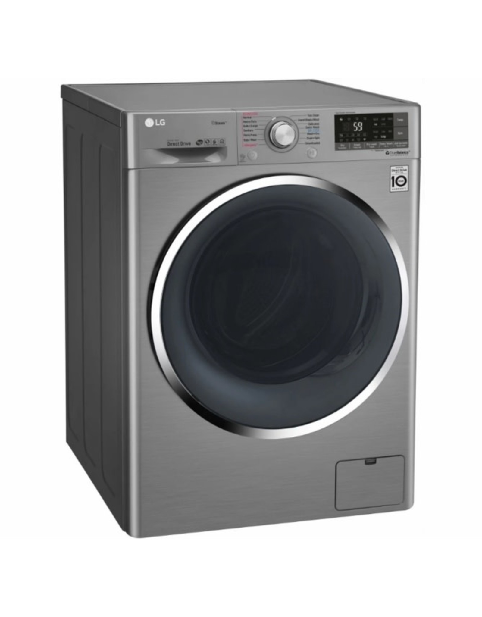LG Electronics 2.3 cu. ft. Graphite Steel Compact Smart All-in-One Front Load Washer and Electric Ventless Dryer Combo with Steam