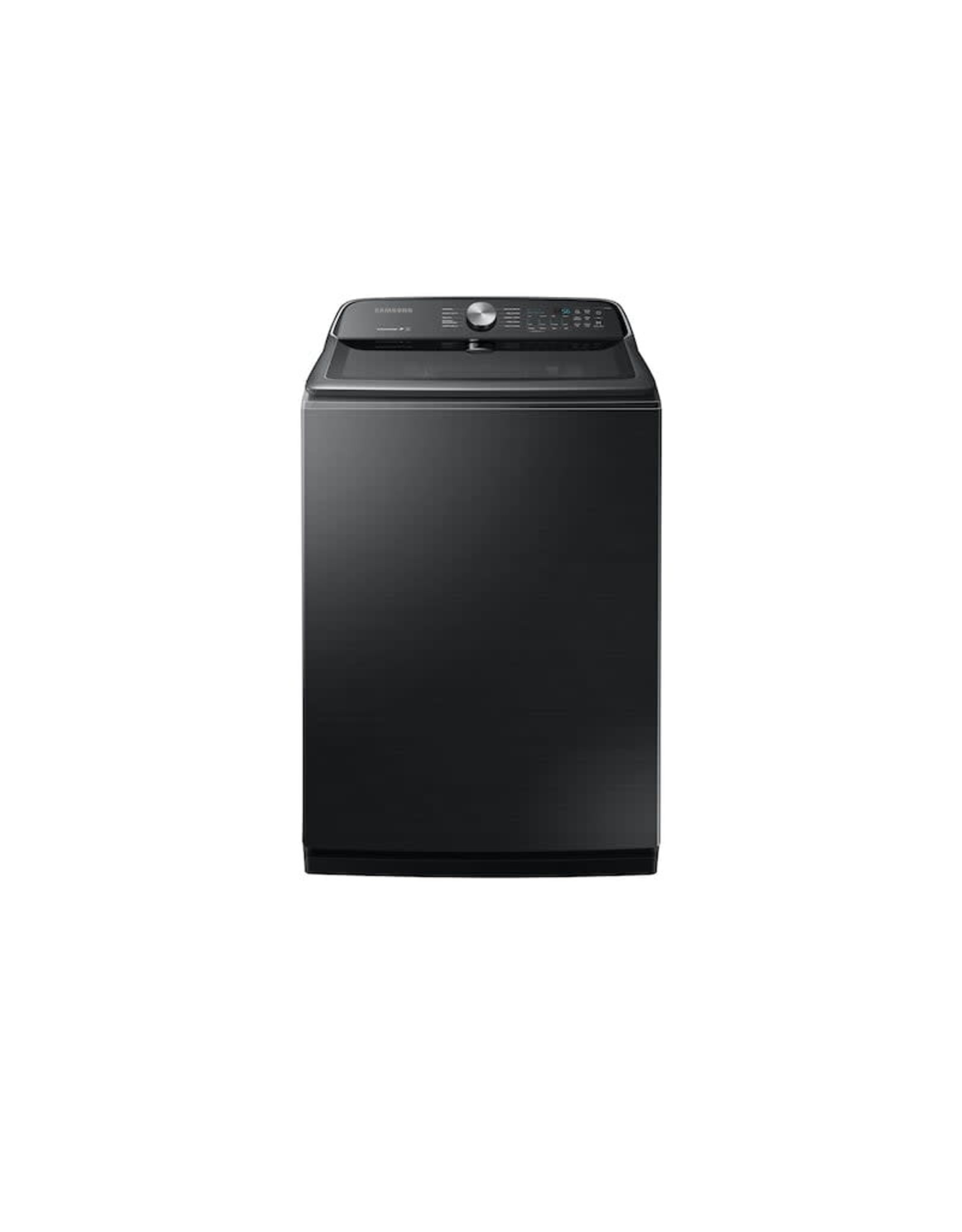 SAMSUNG Samsung 5.4 cu. ft. Fingerprint Resistant Black Stainless Top Load Washing Machine with Active WaterJet, ENERGY STAR