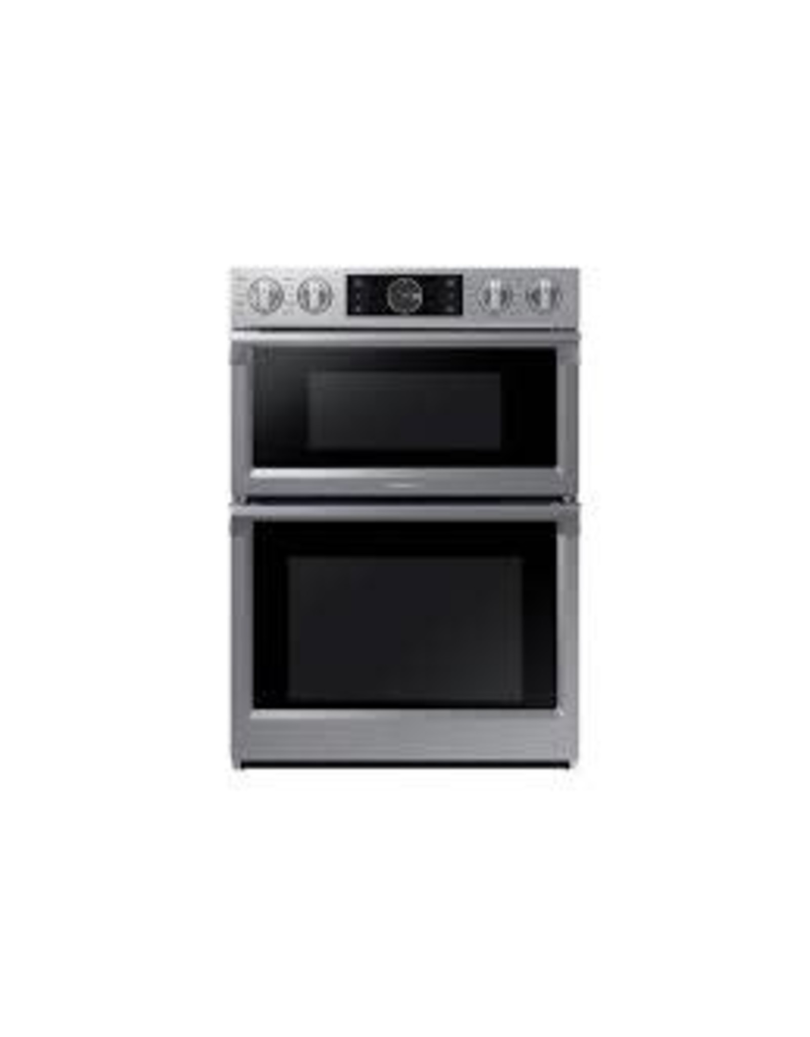 SAMSUNG NQ70M7770D30 in. Electric Steam Cook, Flex Duo Wall Oven Speed Cook Built-In Microwave in Stainless Steel