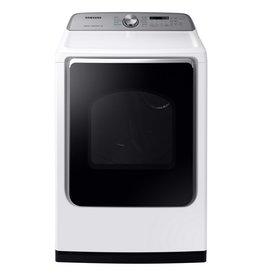 SAMSUNG DVE54R7200W 7.4 cu. ft. BLUE Electric Dryer with Steam Sanitize+