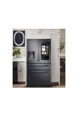 SAMSUNG RF28R7551SG 27.7 cu. ft. Family Hub 4-Door French Door Smart Refrigerator in Fingerprint Resistant Black Stainless Steel