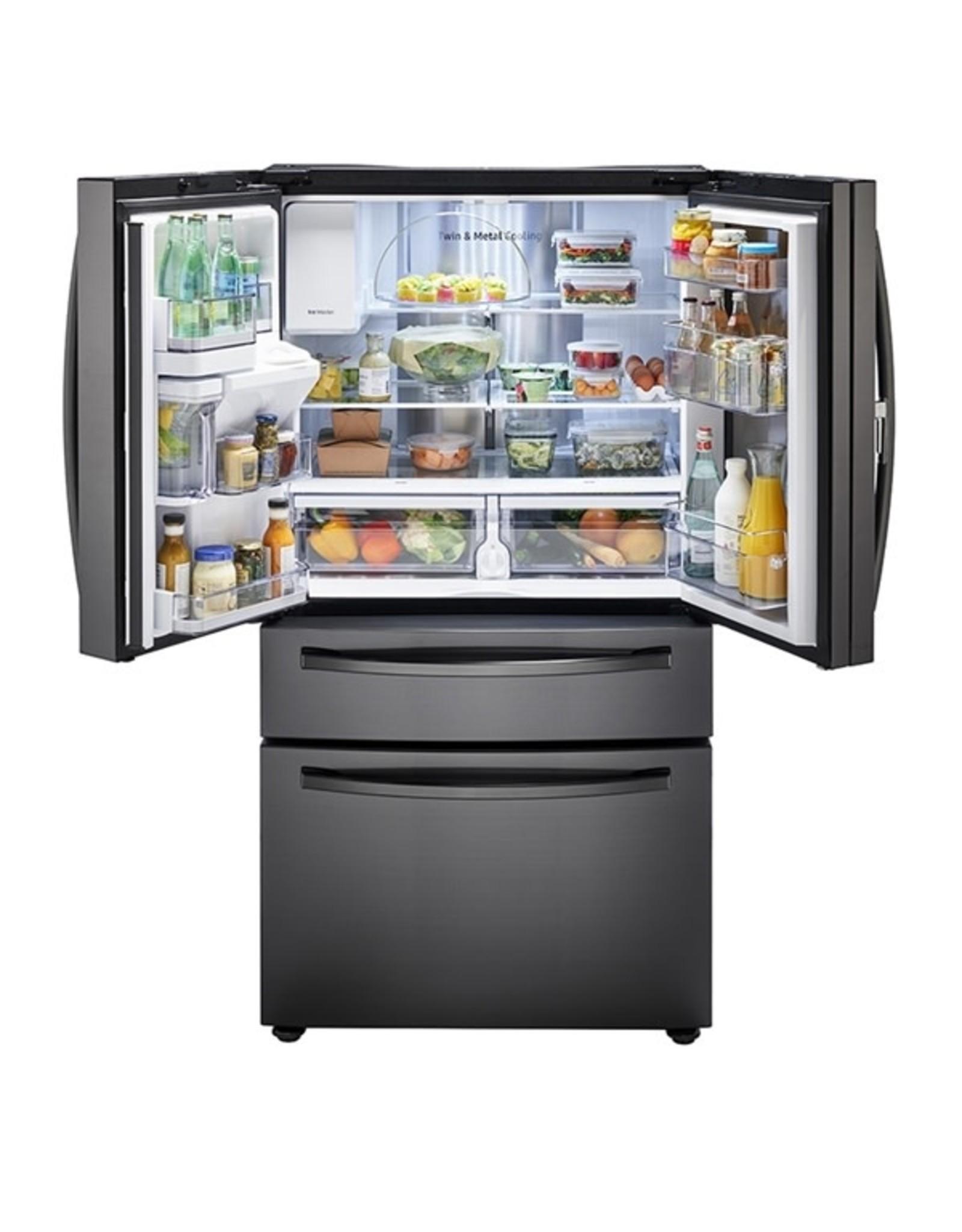 SAMSUNG customer return RF28R7351SG Samsung food showcase 28 cu.ft 4- D French-D refrigerator with ice maker