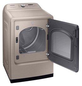 SAMSUNG DVG54R7600C  Samsung 7.4 cu. ft. 120-Volt Champagne Gas Dryer with Steam Sanitize+