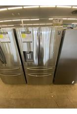 SAMSUNG RF24R7201SR 23 cu. ft. 4-Door French Door Refrigerator in Fingerprint Resistant Stainless Steel, Counter Depth
