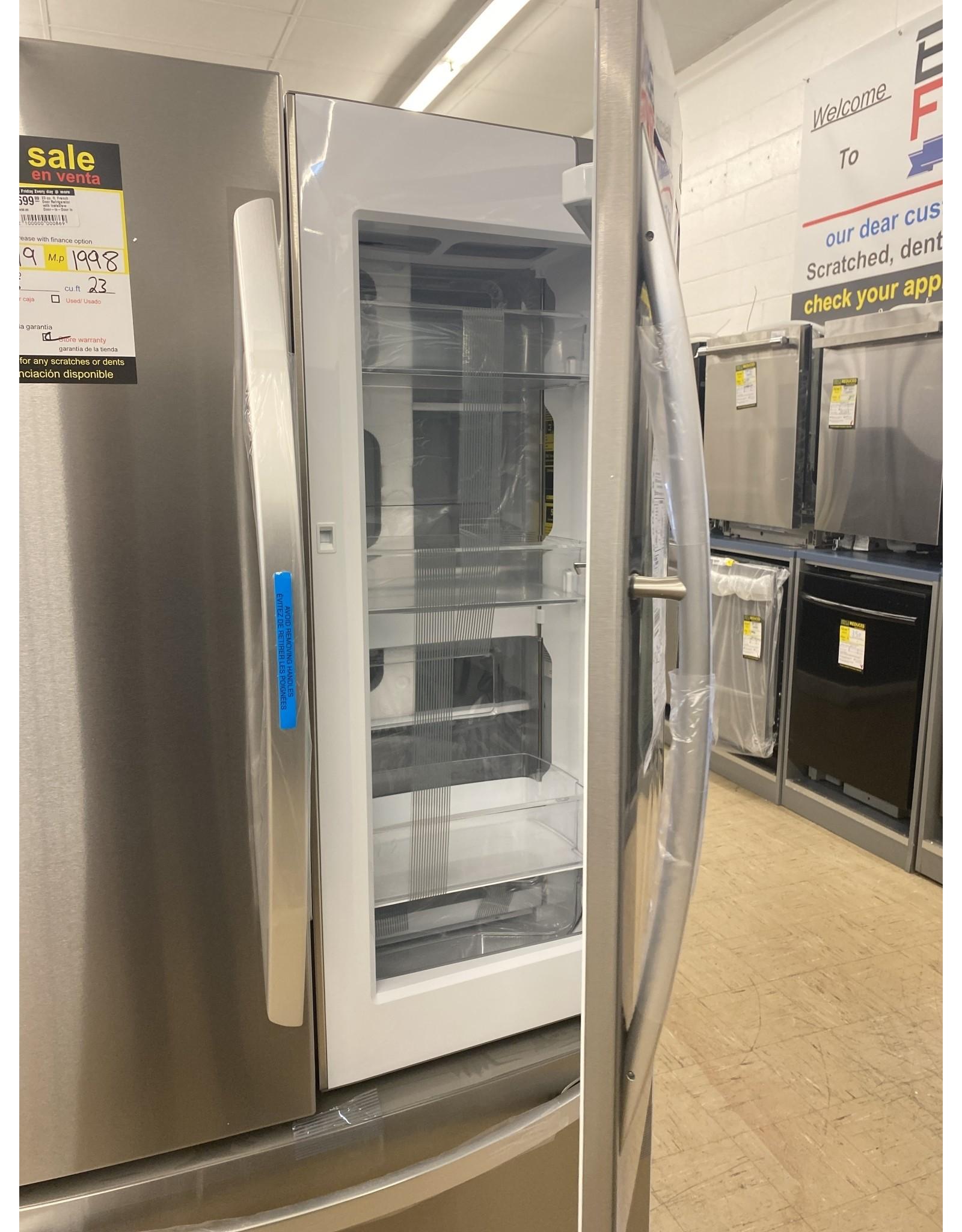 LG Electronics 23 cu. ft. French Door Refrigerator with InstaView Door-in-Door in PrintProof Stainless Steel, Counter Depth