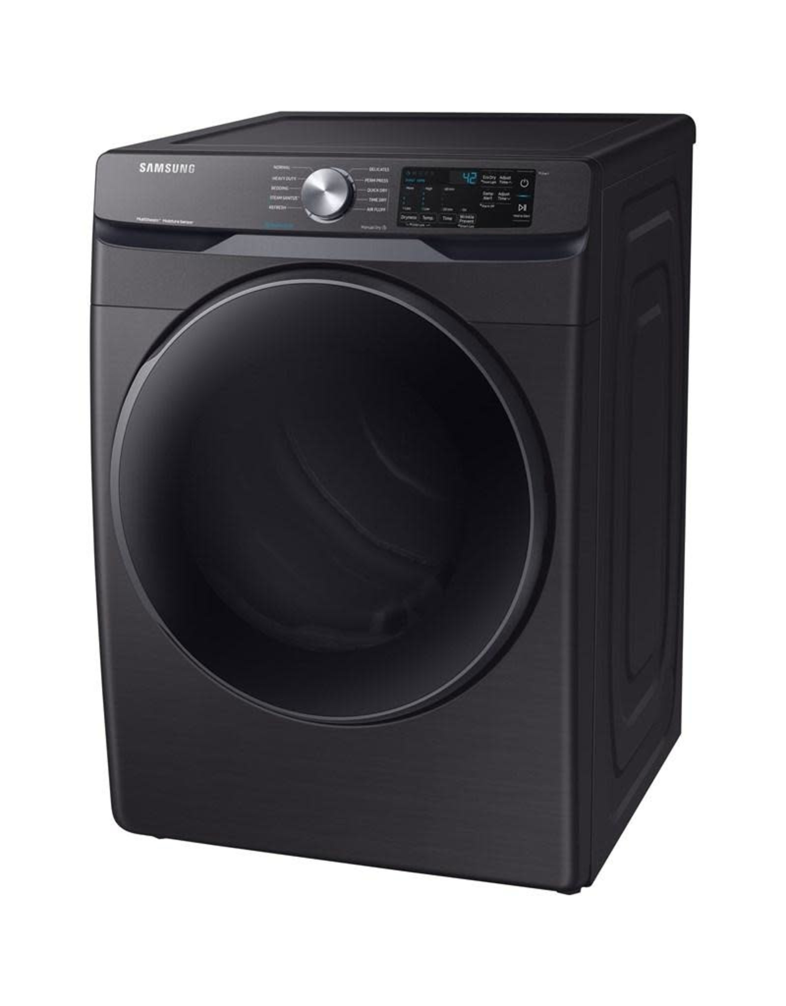 SAMSUNG DVE45R6100V  7.5 cu. ft. Electric Dryer with Steam Sanitize+ in Black Stainless Steel