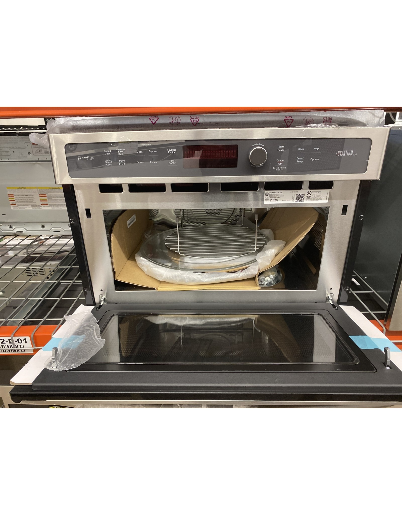 GE PSB9100SFSS Profile 27 in. Single Electric Wall Oven with Advantium Cooking in Stainless Steel