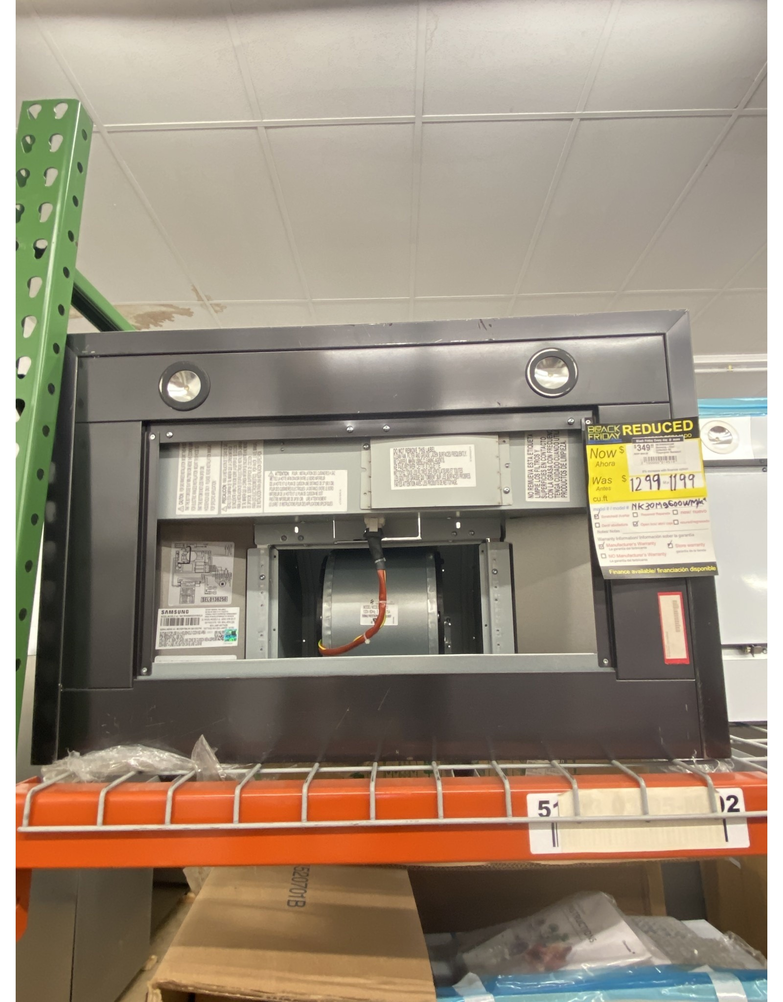 SAMSUNG NK30M9600WM Samsung-Chef Collection 30″ Fingerprint Resistant Range Hood-Matte Black Stainless Steel – Fingerprint Resistant Matte Black Stainless Steel