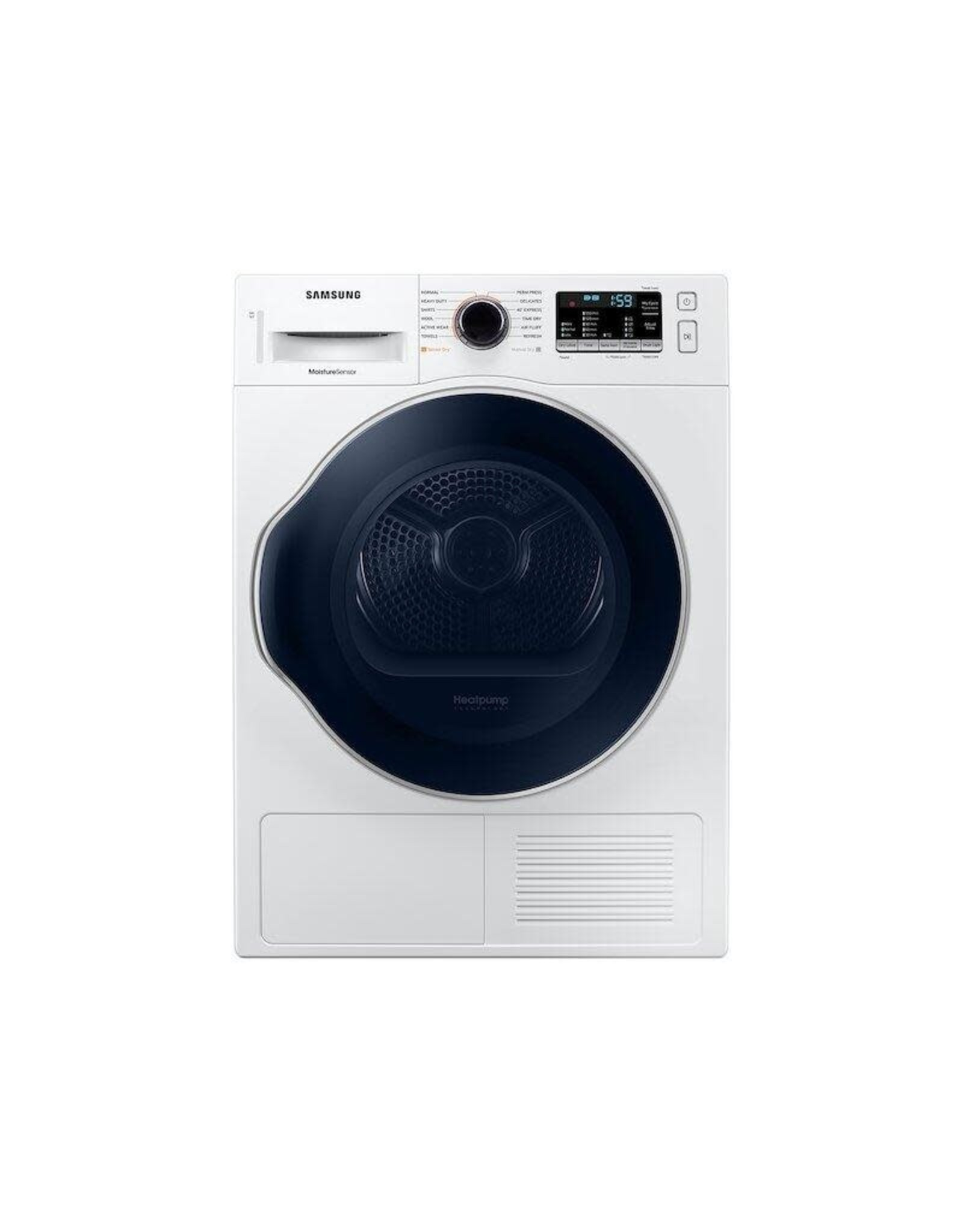 SAMSUNG Samsung 4.0 cu. ft. Capacity White 24 Stackable Electric Ventless Heat Pump Dryer ENERGY STAR Certified
