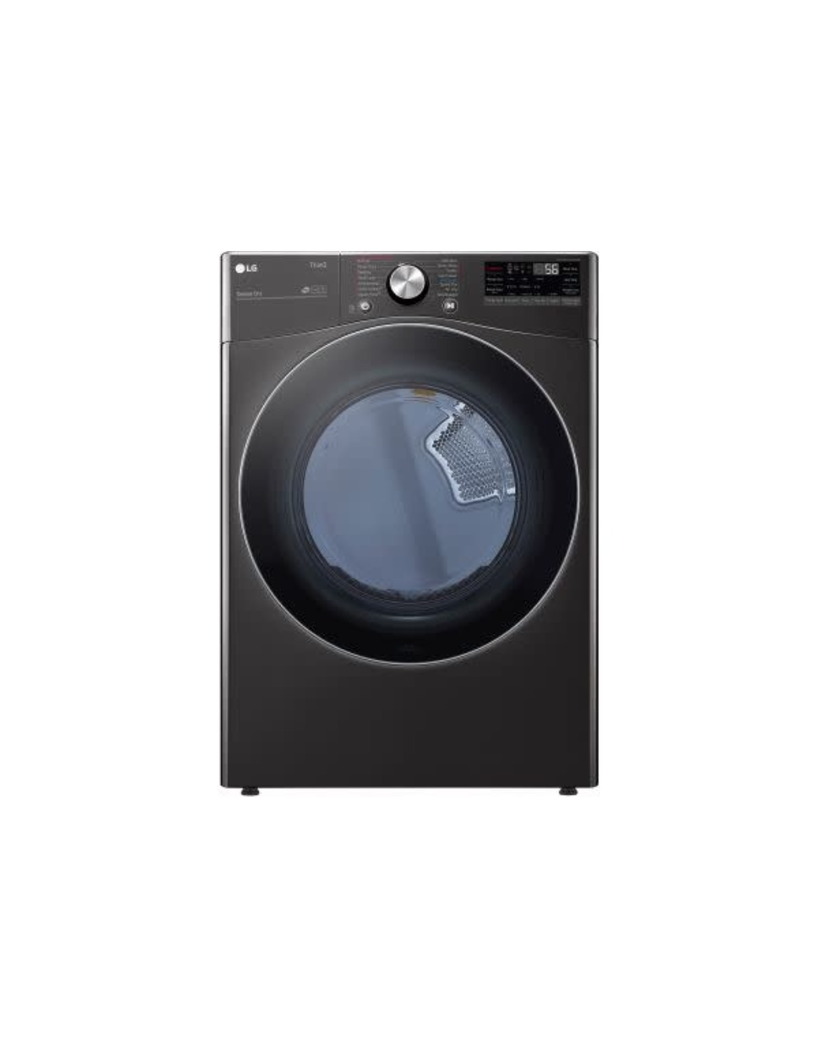 LG Electronics DLEX4200B 7.4 cu. ft. Ultra Large Capacity Black Steel Smart Electric Vented Dryer with Sensor Dry, TurboSteam & Wi-Fi Enabled