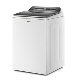 WHIRLPOOL Whirlpool 5.3 cu. ft. Smart White Top Load Washing Machine with Load and Go, Built-In Water Faucet and Stain Brush, ENERGY STAR