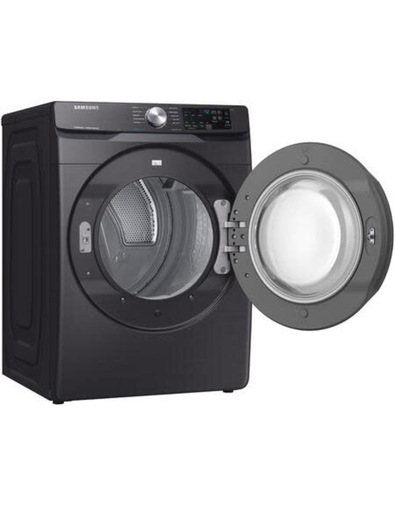 SAMSUNG Samsung 7.5 cu. ft. Black Stainless Gas Dryer with Steam