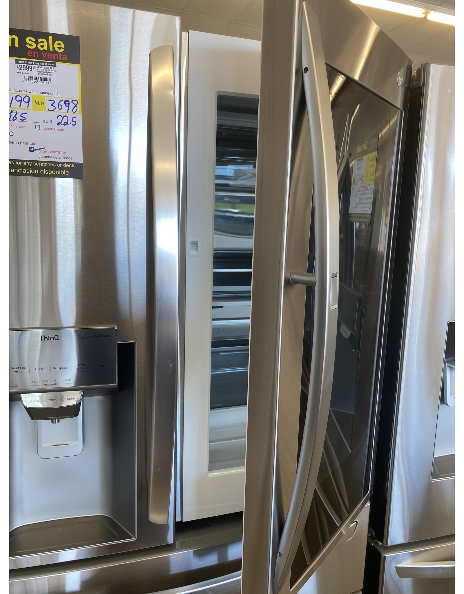 LG Electronics LRMVC2306S 22.5 cu. ft. Smart French Door Refrigerator InstaView Door-In-Door Dual and Craft Ice in PrintProof Stainless
