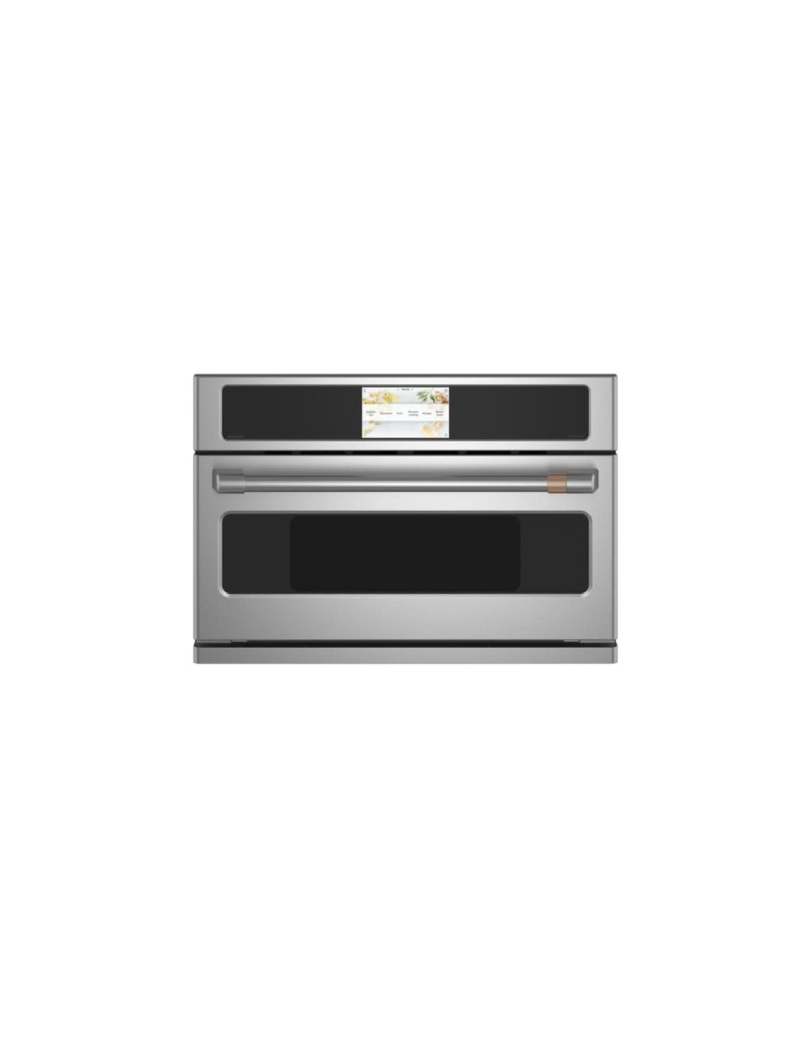 Cafe' CSB923P2NS1 30 in. 1.7 cu. ft. Smart Electric Wall Oven and Microwave Combo with 240 Volt Advantium Technology in Stainless Steel