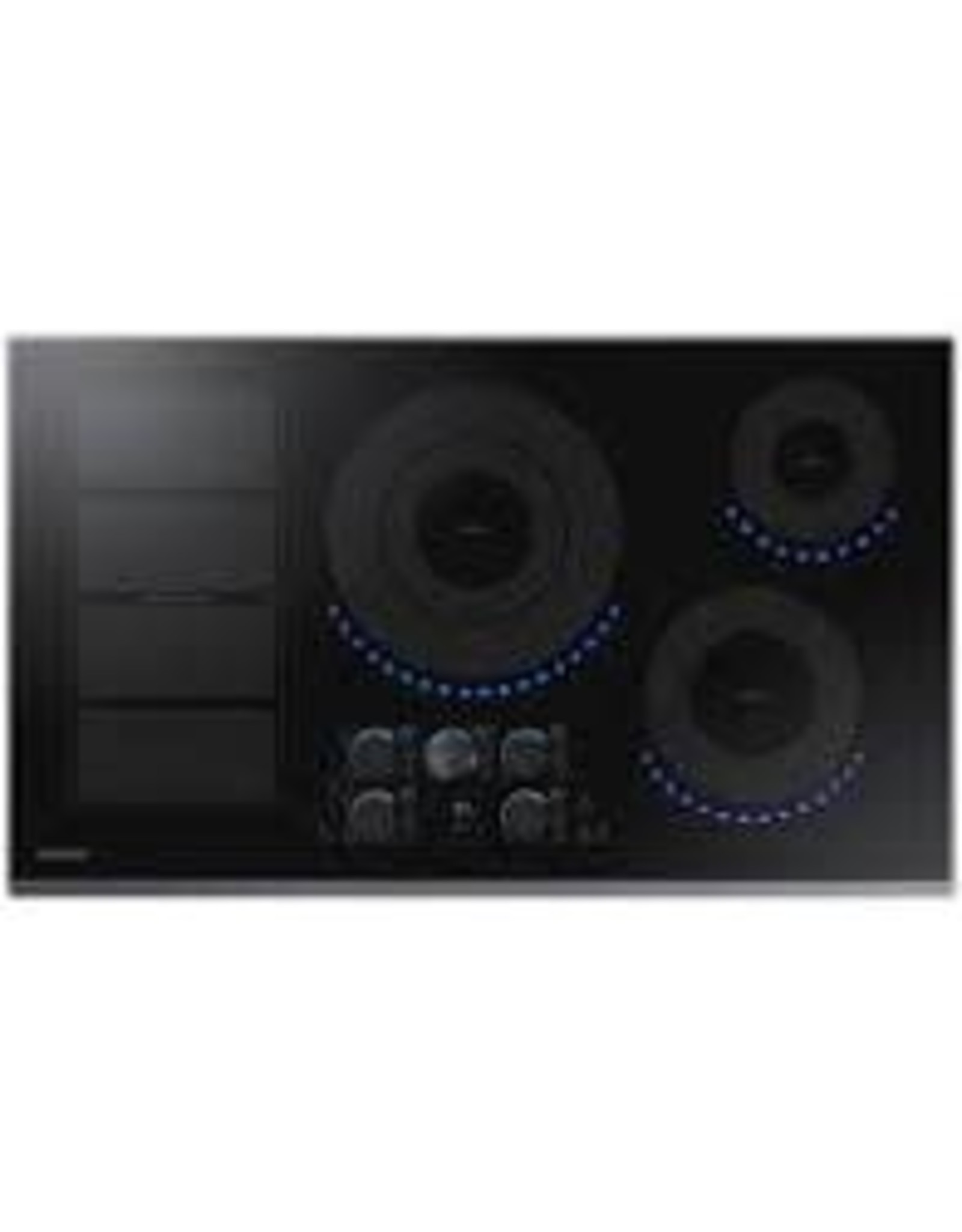 SAMSUNG NZ36K7880UG  36 in. Induction Cooktop with Fingerprint Resistant Black Stainless Trim with 5 Elements and Flex Zone Element