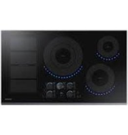 SAMSUNG NZ36K7880US 36 in. Induction Cooktop with Fingerprint Resistant Black Stainless Trim with 5 Elements and Flex Zone Element