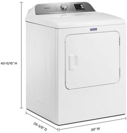 MED6200KW 7.0 cu. ft. 240-Volt White Electric Vented Dryer with Moisture Sensing