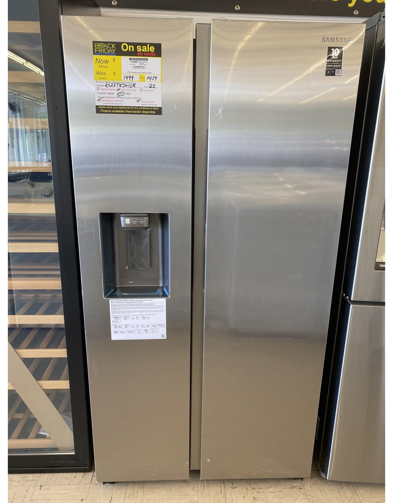SAMSUNG 22.0 cu. ft. Side by Side Refrigerator in Fingerprint Resistant Stainless Steel, Counter Depth
