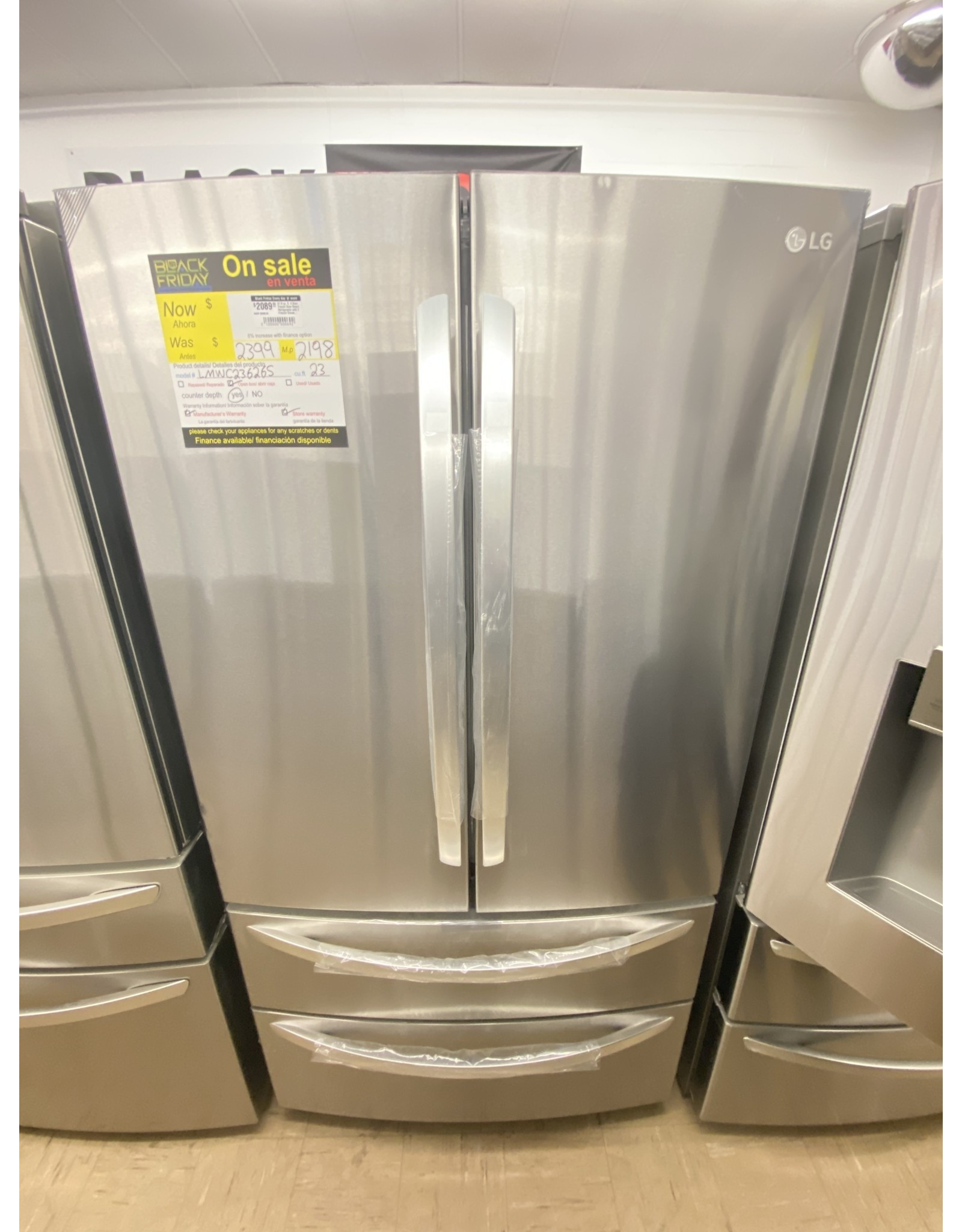 LG Electronics 27.8 cu. ft. 4 Door French Door Smart Refrigerator with 2 Freezer Drawers and Wi-Fi Enabled in Stainless Steel