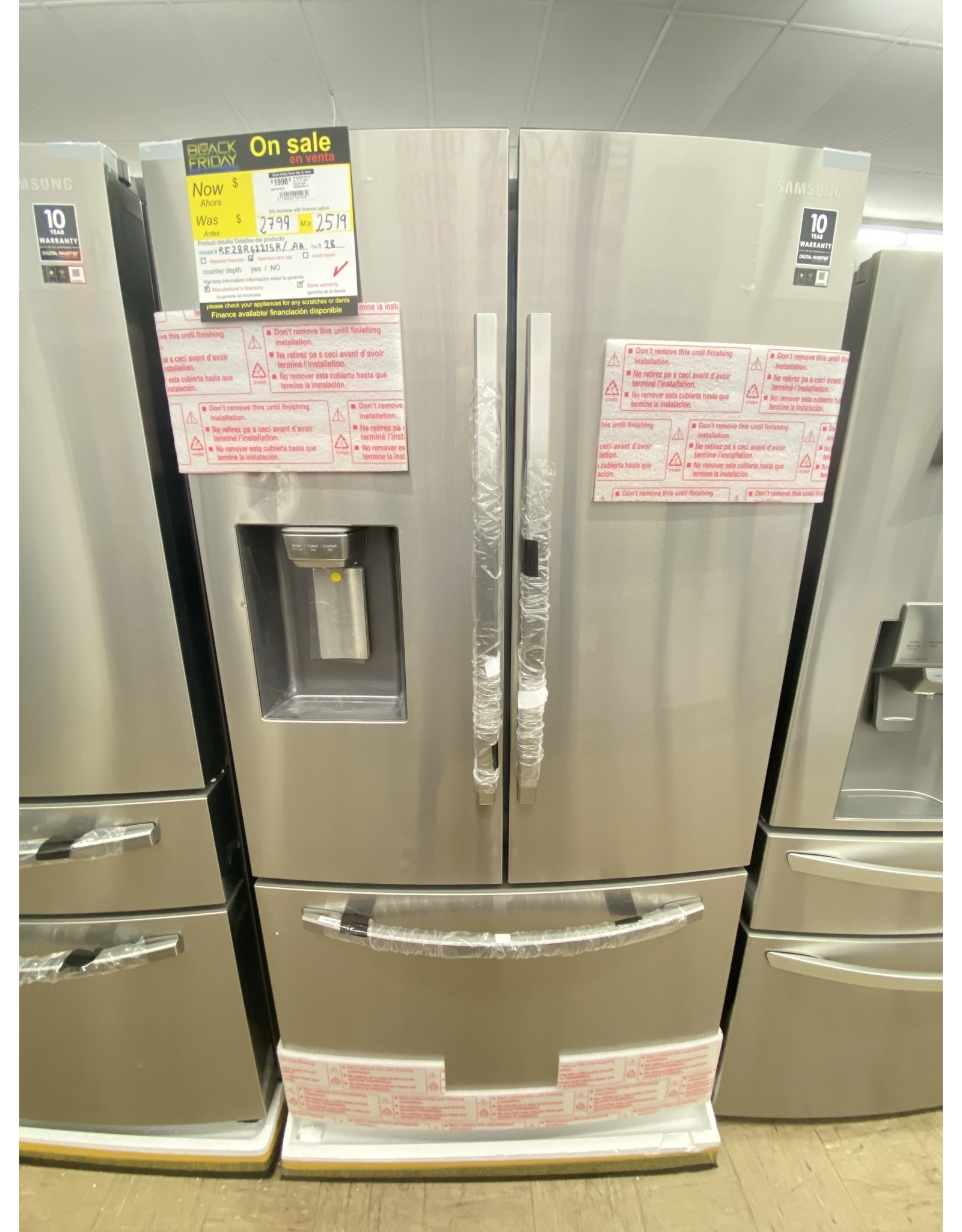 SAMSUNG RF28R6221SR 28 cu. ft. 3-Door French Door Refrigerator in Stainless Steel with AutoFill Water Pitcher