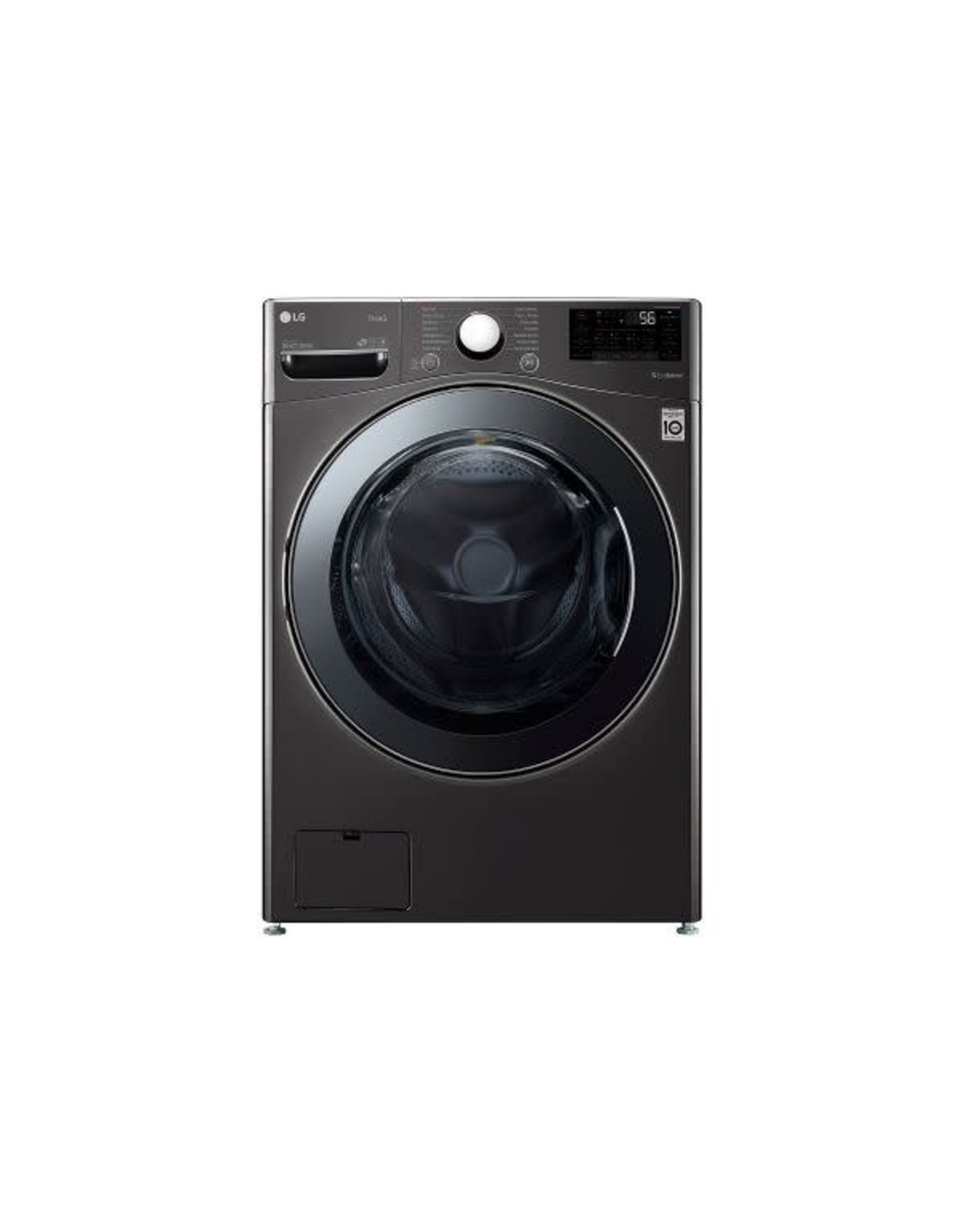 LG Electronics combo 27 in. 4.5 cu. ft. Black Steel Ultra Large Capacity Electric All-in-One Washer Dryer Combo