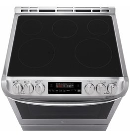 LG Electronics LSE4611ST 6.3 cu. ft. Slide-In Electric Range with ProBake Convection Oven and EasyClean in Stainless Steel
