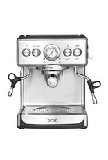 Brim 50019  Brim - Espresso Maker with 19 bars of pressure, Milk Frother and Removable water tank - Silver