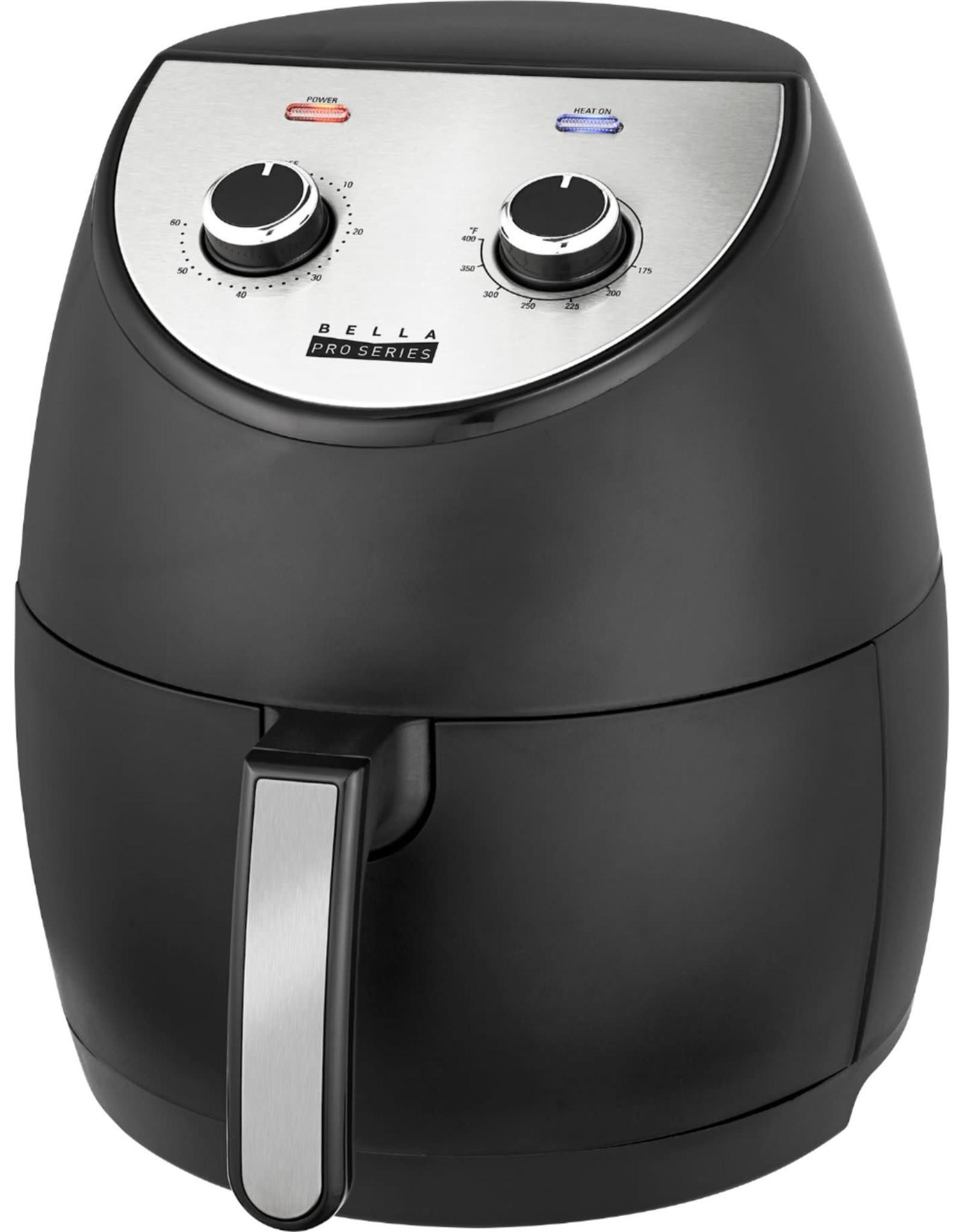 Bella pro 90107 Bella Pro Series - 4.2-qt. Analog Air Fryer - Black Matte