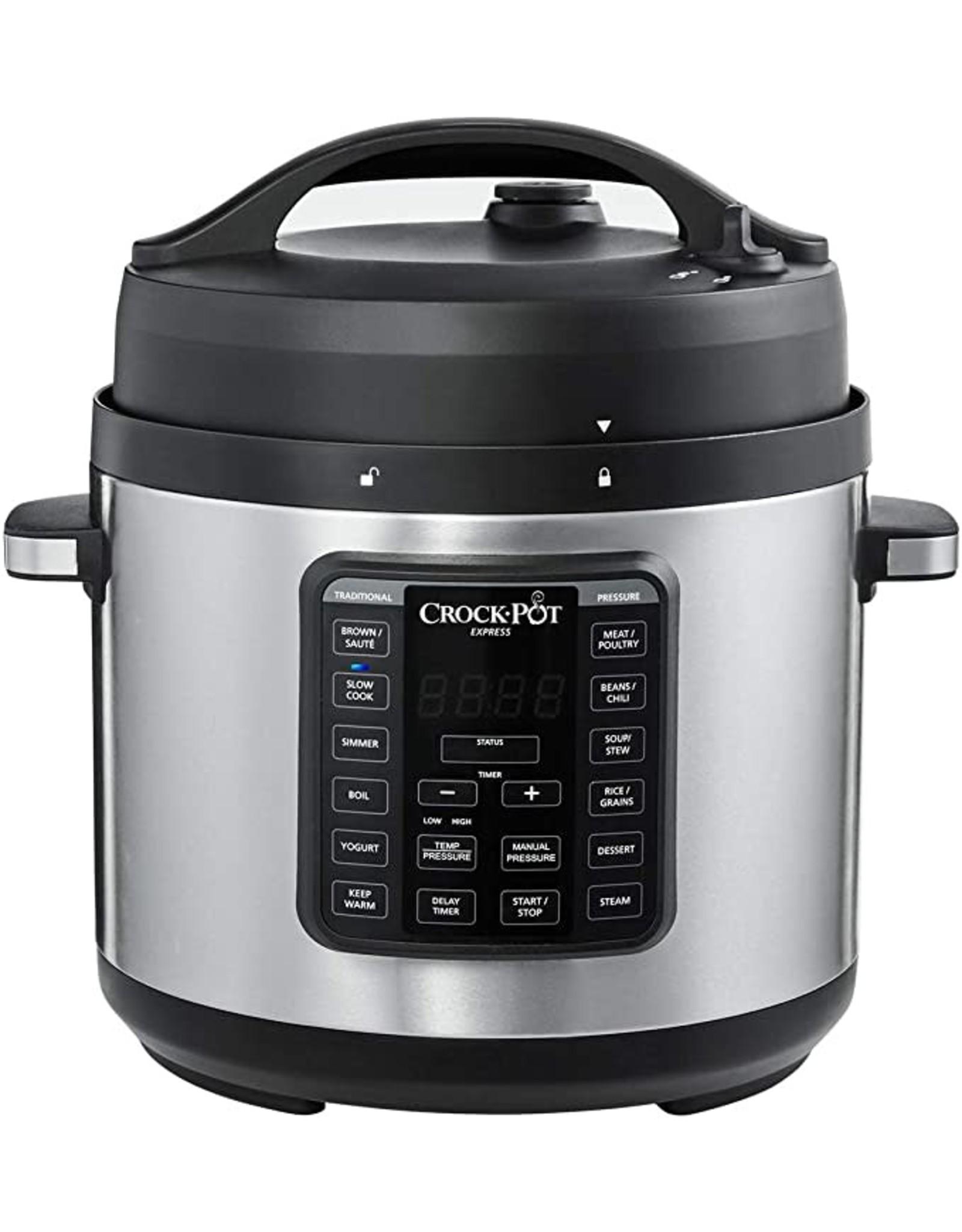 Crock-pot 2100467 Crock-Pot Express Easy Release   6 Quart Slow, Pressure, Multi Cooker, 6QT, Stainless Steel